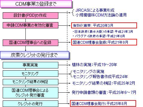 図1 CDM事業の実施手順
