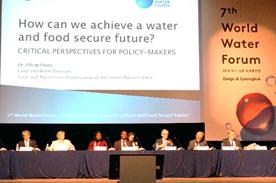 FAO,WWC共催ハイレベルパネルへの岩永理事長(写真左端)の参加