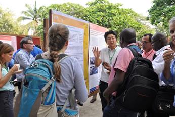 JIRCASとの共同研究成果を発表する石川IITA研究員(写真提供:IITA)