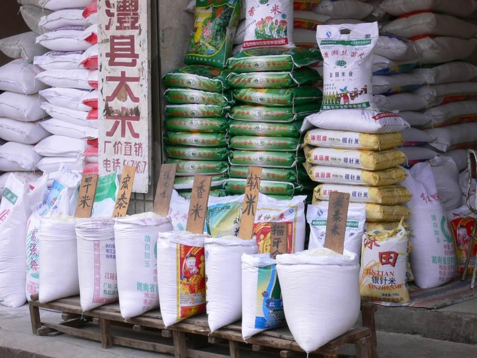 図2 多様な銘柄を取り扱う中国のコメ市場