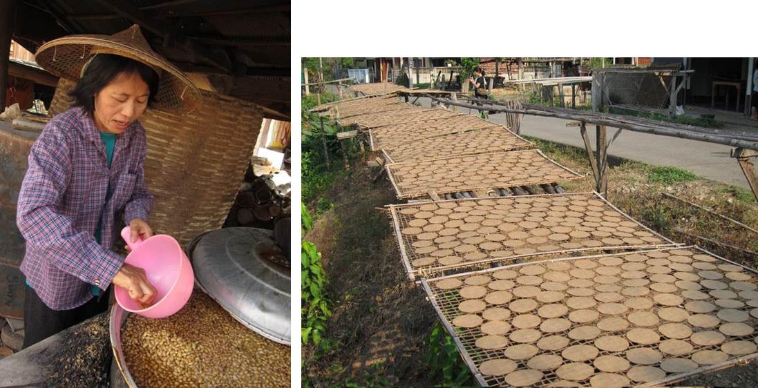図3 タイの大豆発酵食品(トゥアナオ)の製造