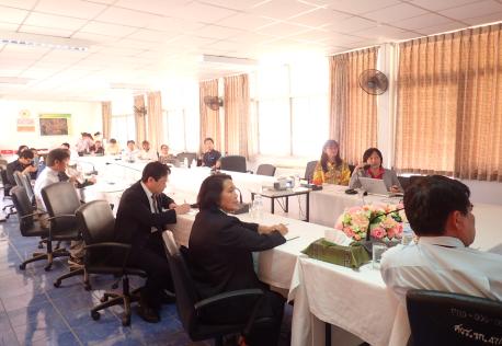 サトウキビ改良のための日本とタイの共同研究プロジェクト成果報告会の様子