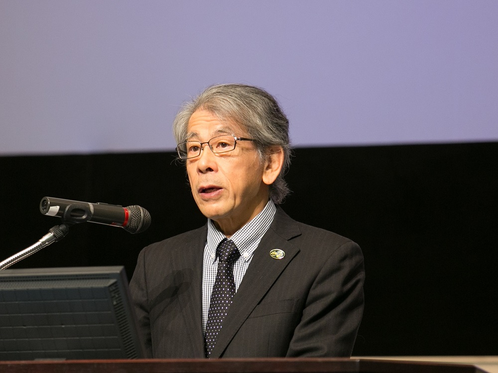 開会の挨拶:岩永 勝 JIRCAS理事長