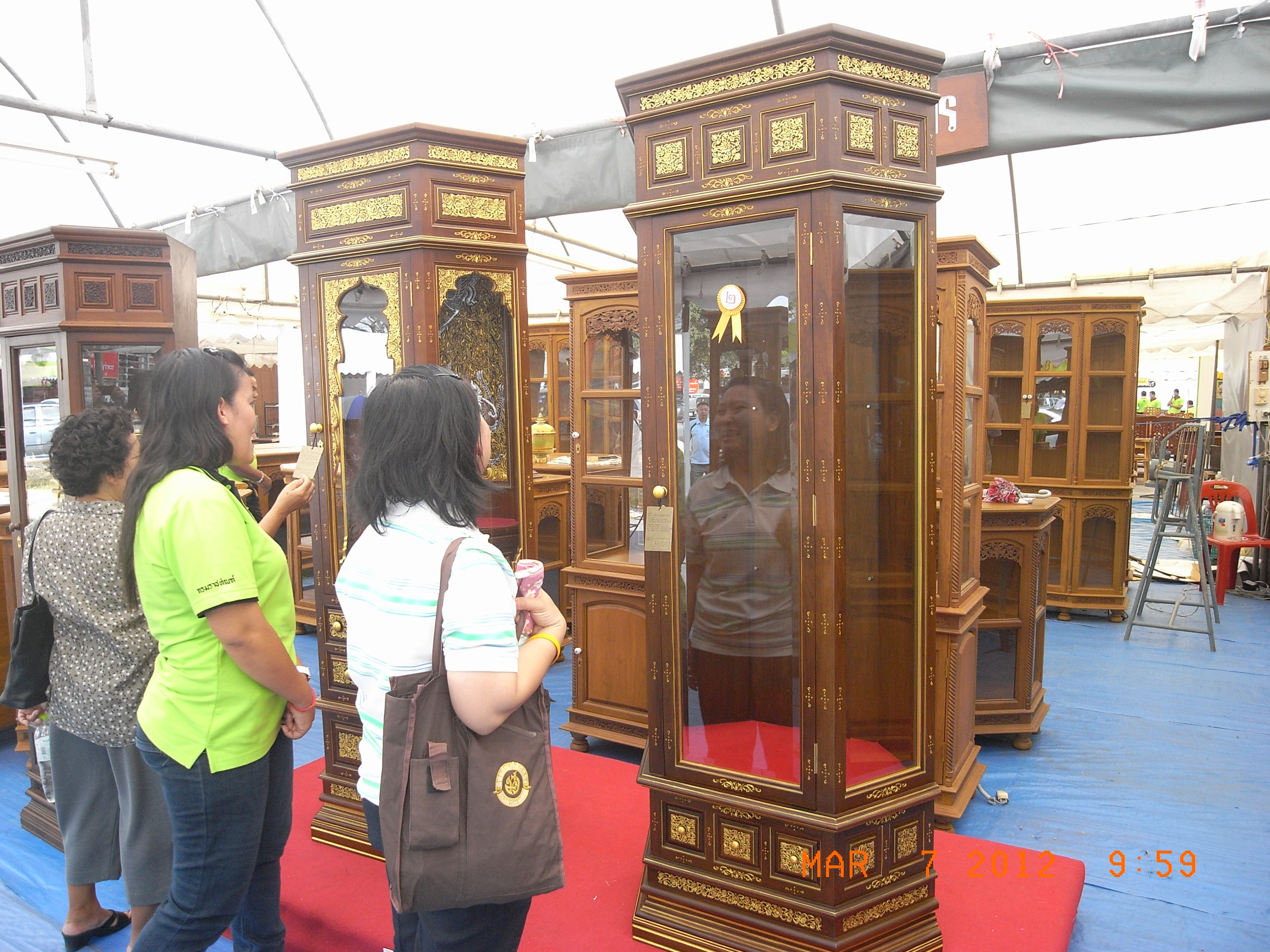 Fig. 1. Furniture made of teak wood, Thailand