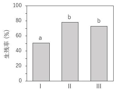 図3 M. yui着底後2週間の生残率