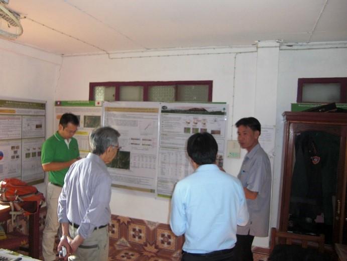 写真5 郡農林事務所内JIRCASの研究成果展示スペース
