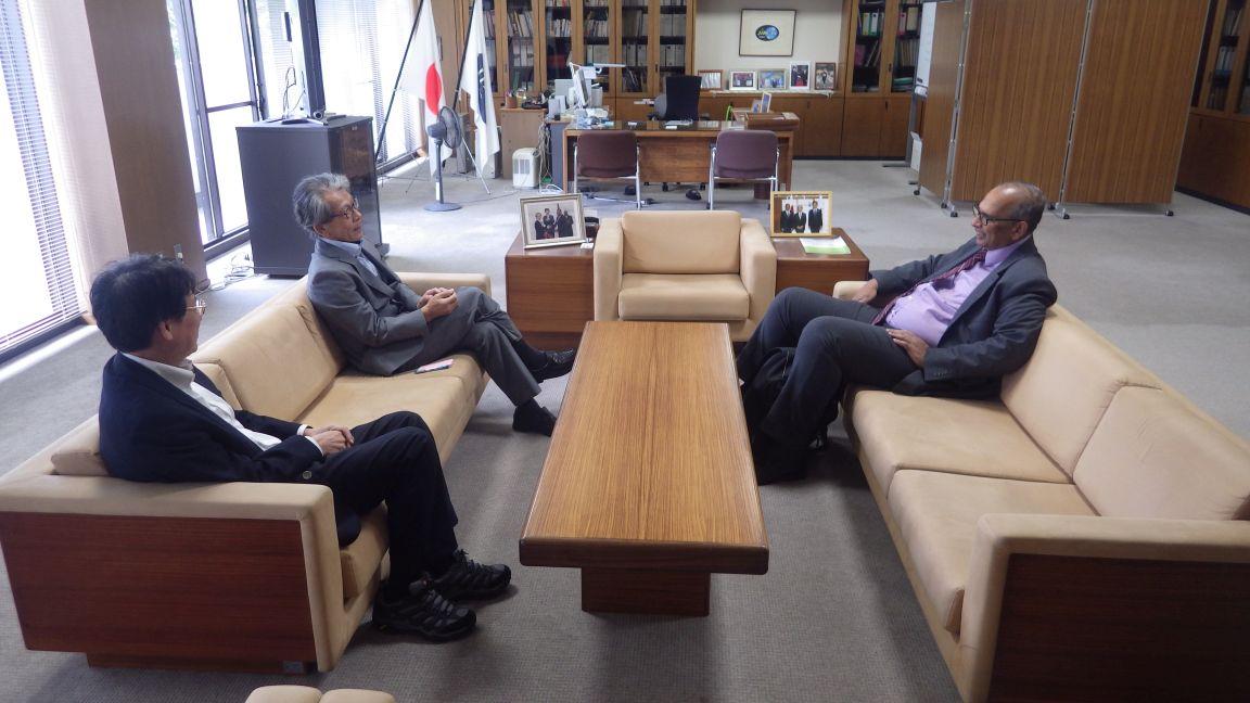 Dr. Ibrahim, DG, CATIE, meets with Dr. Iwanaga, President, JIRCAS, and Mr. Koyama, Vice President, JIRCAS
