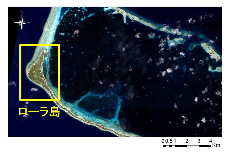 図1 マーシャル諸島共和国マジュロ環礁ローラ島