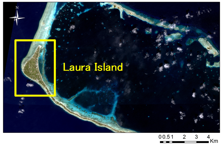 Fig. 1. Laura Island of Majuro Atoll in Republic of the Marshall Islands