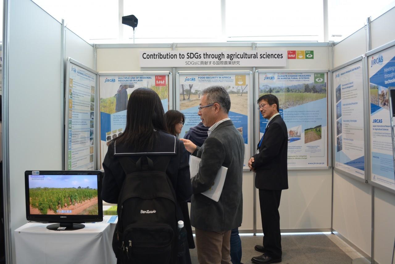 国際農研のポスター等展示の様子