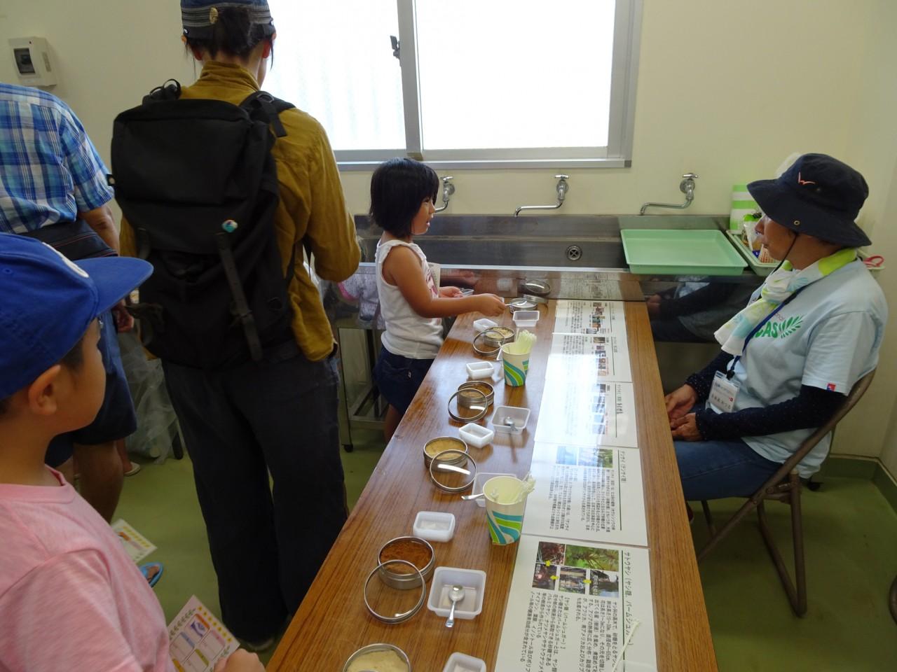 サトウキビ品種といろいろな砂糖の展示