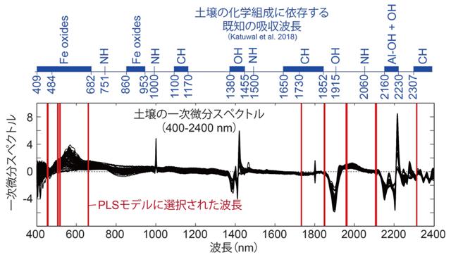 図3 PLSモデルで選択された波長