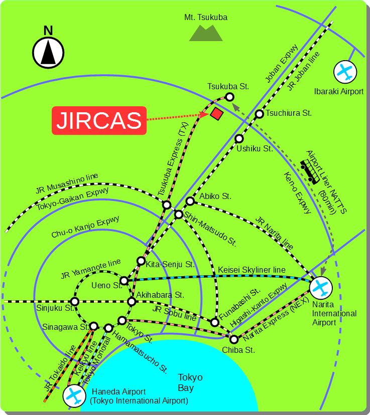 Access map to JIRCAS