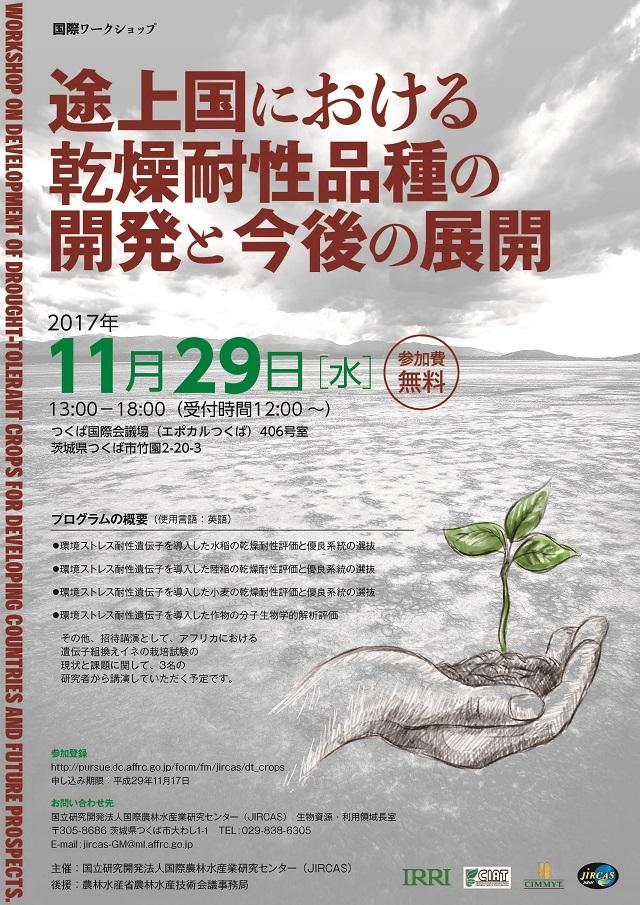 国際ワークショップ「途上国における乾燥耐性品種の開発と今後の展開」