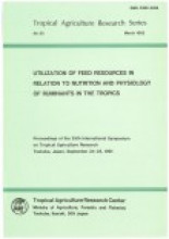 Tropical agriculture research series