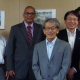 Dr. Mohammad Ibrahim, DG, CATIE, Dr. Masa Iwanaga, President, JIRCAS, & Mr. Osamu Koyama, Vice President, JIRCAS
